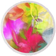 Abstract Garden Impressions Round Beach Towel