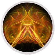 Abstract Ninety-eight Round Beach Towel