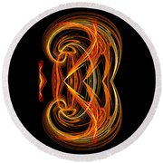 Abstract Ninety-one Round Beach Towel