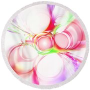Abstract Of Circle  Round Beach Towel