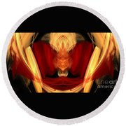 Abstract Six Round Beach Towel