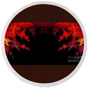Abstract Twenty-seven Round Beach Towel