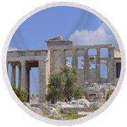 Acropolis Round Beach Towel