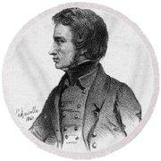 Adam Mickiewicz (1798-1855) Round Beach Towel