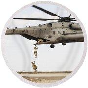 Air Force Pararescuemen Conduct Round Beach Towel