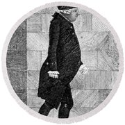 Alexander Monro II, Scottish Anatomist Round Beach Towel
