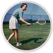 Alice Marble (1913-1990) Round Beach Towel