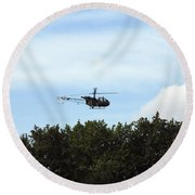 Alouette II Of The Belgian Army Round Beach Towel