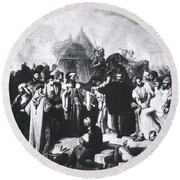 Ambroise Par�, French Surgeon, Pioneer Round Beach Towel by Science Source