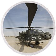 An Ah-64d Apache Helicopter At Cob Round Beach Towel
