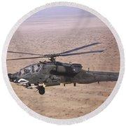 An Ah-64d Apache Longbow Fires A Hydra Round Beach Towel