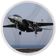 An F-14d Tomcat Comes In For An Round Beach Towel
