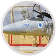 An F-15c Eagle Baz Aircraft Round Beach Towel