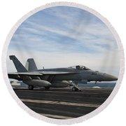 An Fa-18f Super Hornet Takes Round Beach Towel