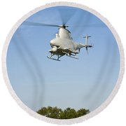 An Mq-8b Fire Scout Unmanned Aerial Round Beach Towel