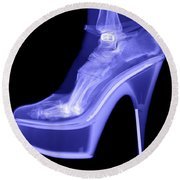 An X-ray Of A Foot In A High Heel Shoe Round Beach Towel