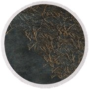 Ancient Fossils Round Beach Towel