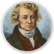 Andre Marie Amp�re, French Physicist Round Beach Towel
