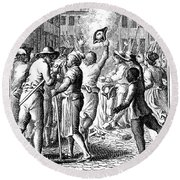 Anti-stamp Act, Boston, 1765 Round Beach Towel