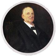 Anton Bruckner (1824-1896) Round Beach Towel