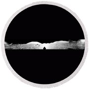 Apollo 17 Assembled Panorama Round Beach Towel