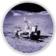Apollo Mission 17 Round Beach Towel