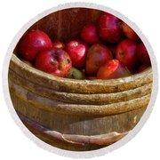 Apple Harvest Round Beach Towel