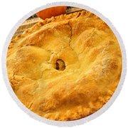 Apple Pie Round Beach Towel