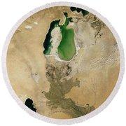 Aral Sea Round Beach Towel