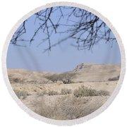 Aravah Desert Landscape  Round Beach Towel