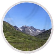Archangel Valley Round Beach Towel