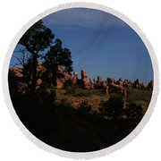 Arches National Park Round Beach Towel