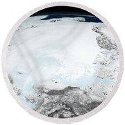 Arctic Sea Ice Round Beach Towel
