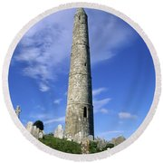 Ardmore Round Tower, Ardmore, Co Round Beach Towel