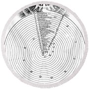 Aristotlelian And Christian Cosmologies Round Beach Towel by Science Source