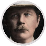 Arthur Conan Doyle, Scottish Author Round Beach Towel
