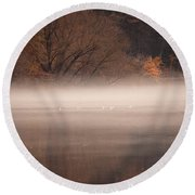 As The Fog Lifts Round Beach Towel