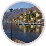Ascona - Lake Maggiore Round Beach Towel by Joana Kruse
