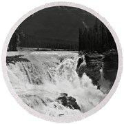 Athabasca Falls Round Beach Towel