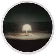 Atomic Bomb Test Round Beach Towel