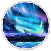 Aurora Borealis  Round Beach Towel