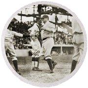 Babe Ruth (1895-1948) Round Beach Towel