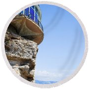 Balcon De Europa In Nerja Round Beach Towel