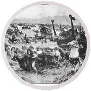 Balkan Insurgency, 1876 Round Beach Towel
