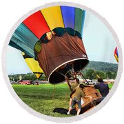 Balloonist - Ready For Takeoff Round Beach Towel