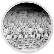 Banquet Glasses Round Beach Towel by Svetlana Sewell