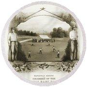 Baseball, 1861 Round Beach Towel