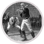 Baseball, 1888 Round Beach Towel
