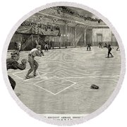 Baseball: Brooklyn, 1890 Round Beach Towel