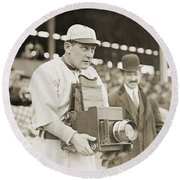 Baseball: Camera, C1911 Round Beach Towel